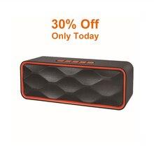 цена на Wireless Bluetooth Speaker Portable Boom Box Outdoor Bass Subwoofer Stereo Boombox Support TF Radio USB Caixa De Som Hoparlor