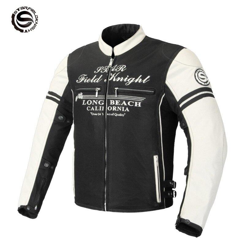 How-yes SFK nouvelle moto respirante veste motorcross protecteur veste été automne-preuve veste blanc gris vert M-3XL
