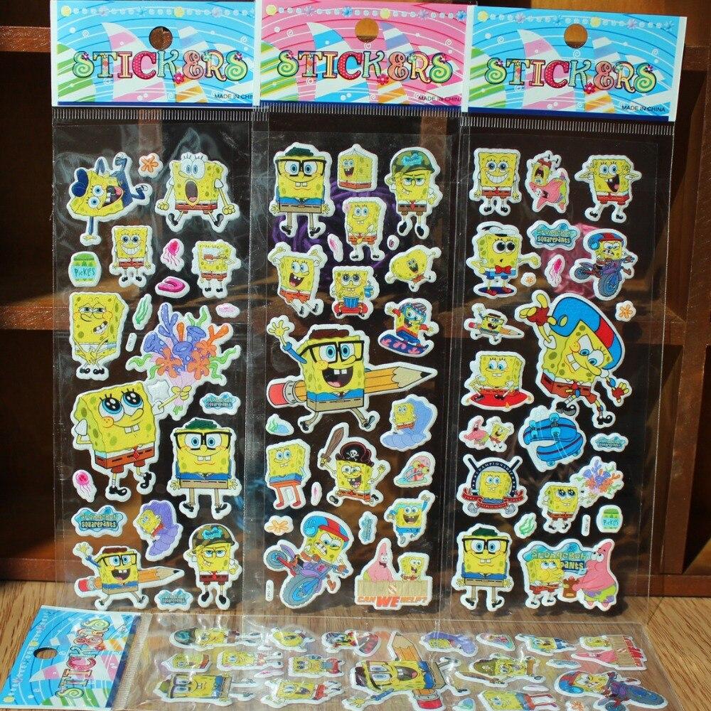 Cartoon 3D classic sticker Children toy laptop reward sticker ...