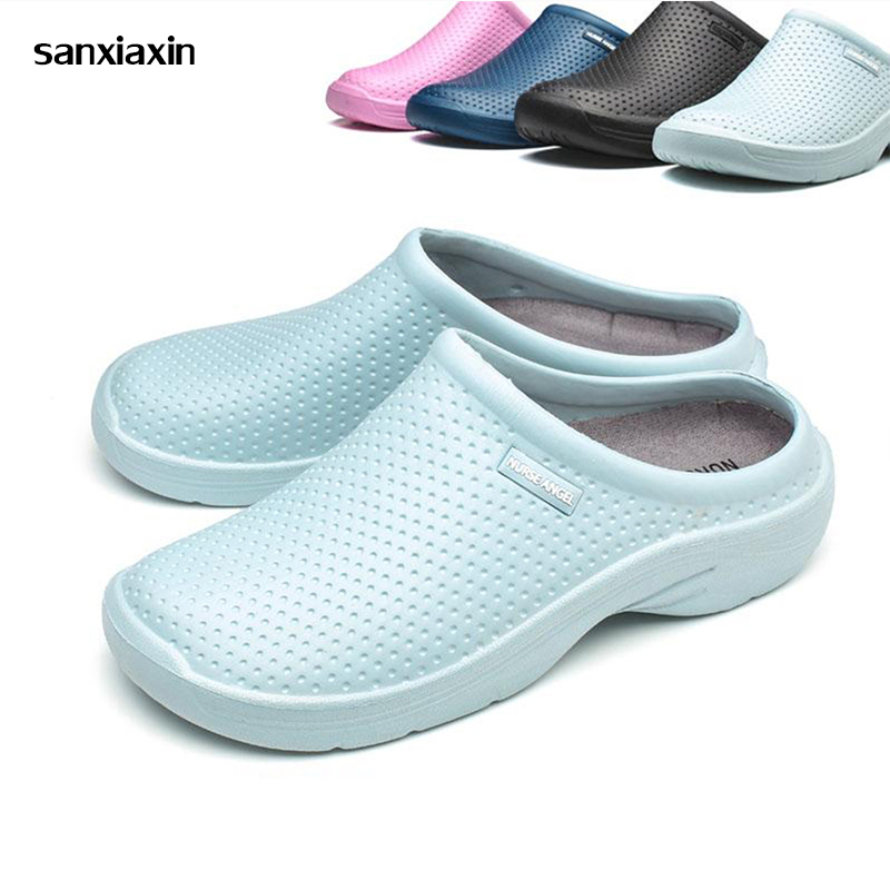Medical Shoes Waterproof Surgical Nurses Slippers Doctor Non-slip Working Shoes