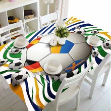 Meijuner Customize 3D Tablecloth Colored Paper Ball Pattern Dustproof Thicken Cotton Party Rectangular Table cloth Home textile