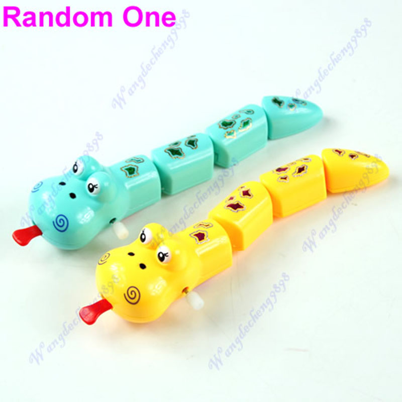 New Children Kids Baby Funny Plastic Snake Shaped Clockwork Wind Up Party Toy