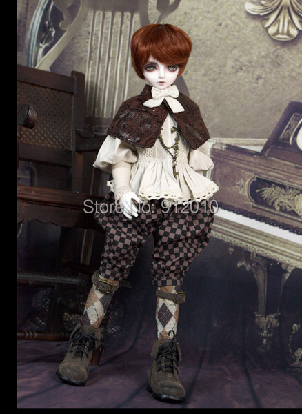 Limited Vintage Prince European Retro Outfit Suit (6pcs) for BJD Doll 1/4 MSD SD10 SD13 SD16 SD17 IP SOOM Doll Clothes LF3 fashion bjd doll retro black linen pants for bjd 1 4 1 3 sd17 uncle ssdf popo68 doll clothes cmb67