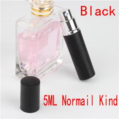 5 мл портативный мини многоразовый флакон для духов с распылителем ароматный насос пустые косметические контейнеры распылитель бутылка для путешествий Новинка - Цвет: 5ml Normalkind black