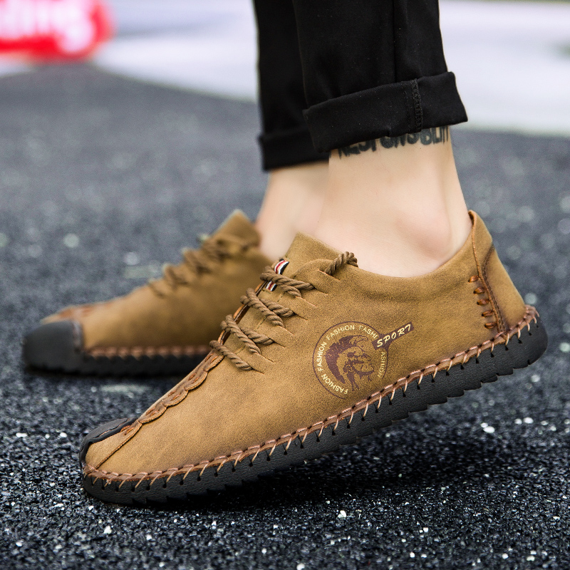 Brand Men's Loafers Moccasins Slip On Shoes Men Casual Shoe Artificial Leather Driving Boat Flats Sh