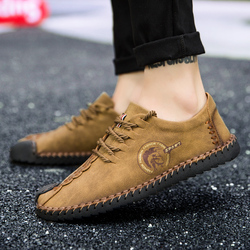 Brand Men's Loafers Moccasins Slip On Shoes Men Casual Shoe Artificial Leather Driving Boat Flats Shoes Sneaker Men Big Size