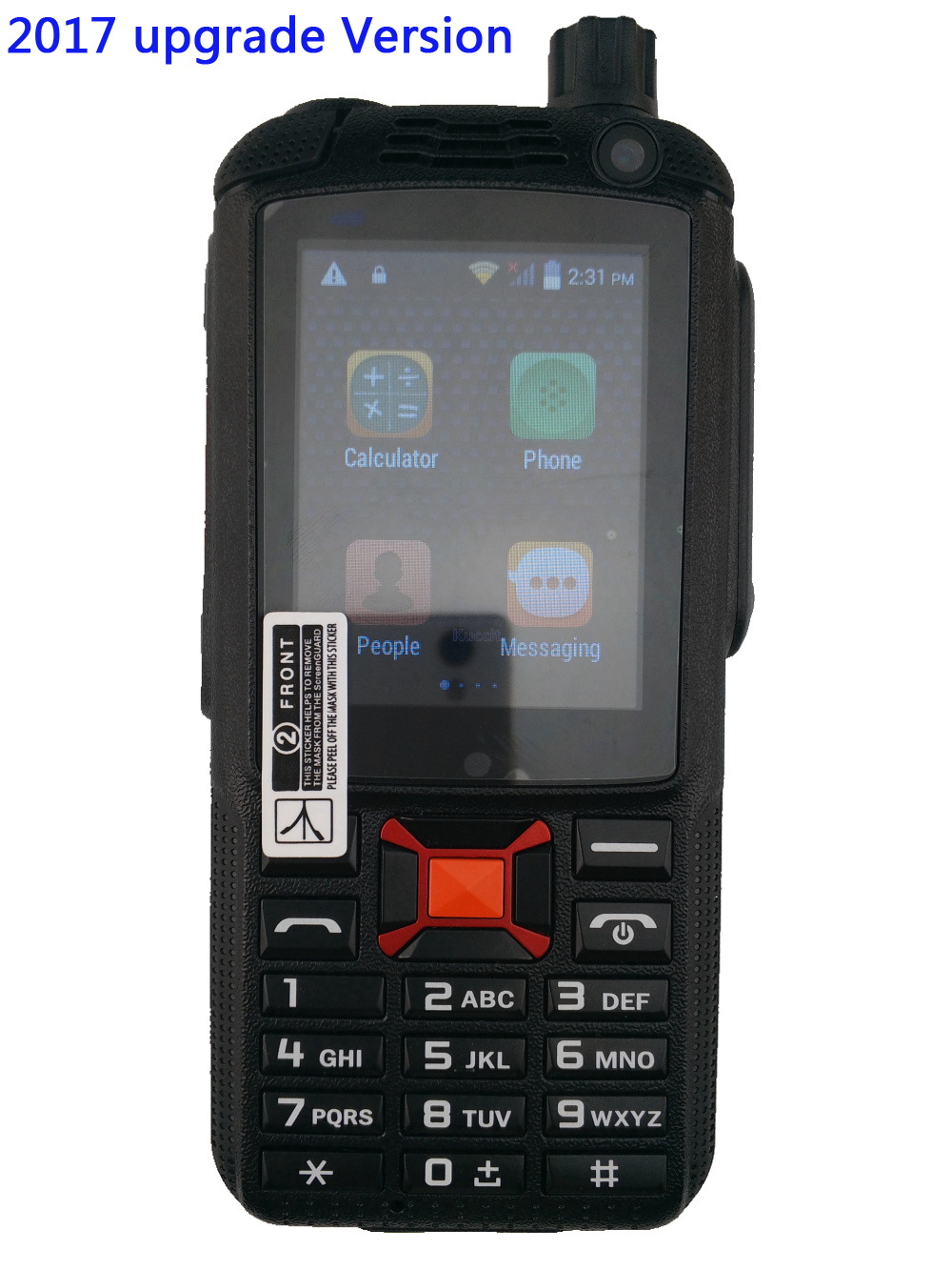 2017 Upgrade F22 Plus 3G Android Walkie Talkie Network intercom Rugged Phone Zello PTT Two Way