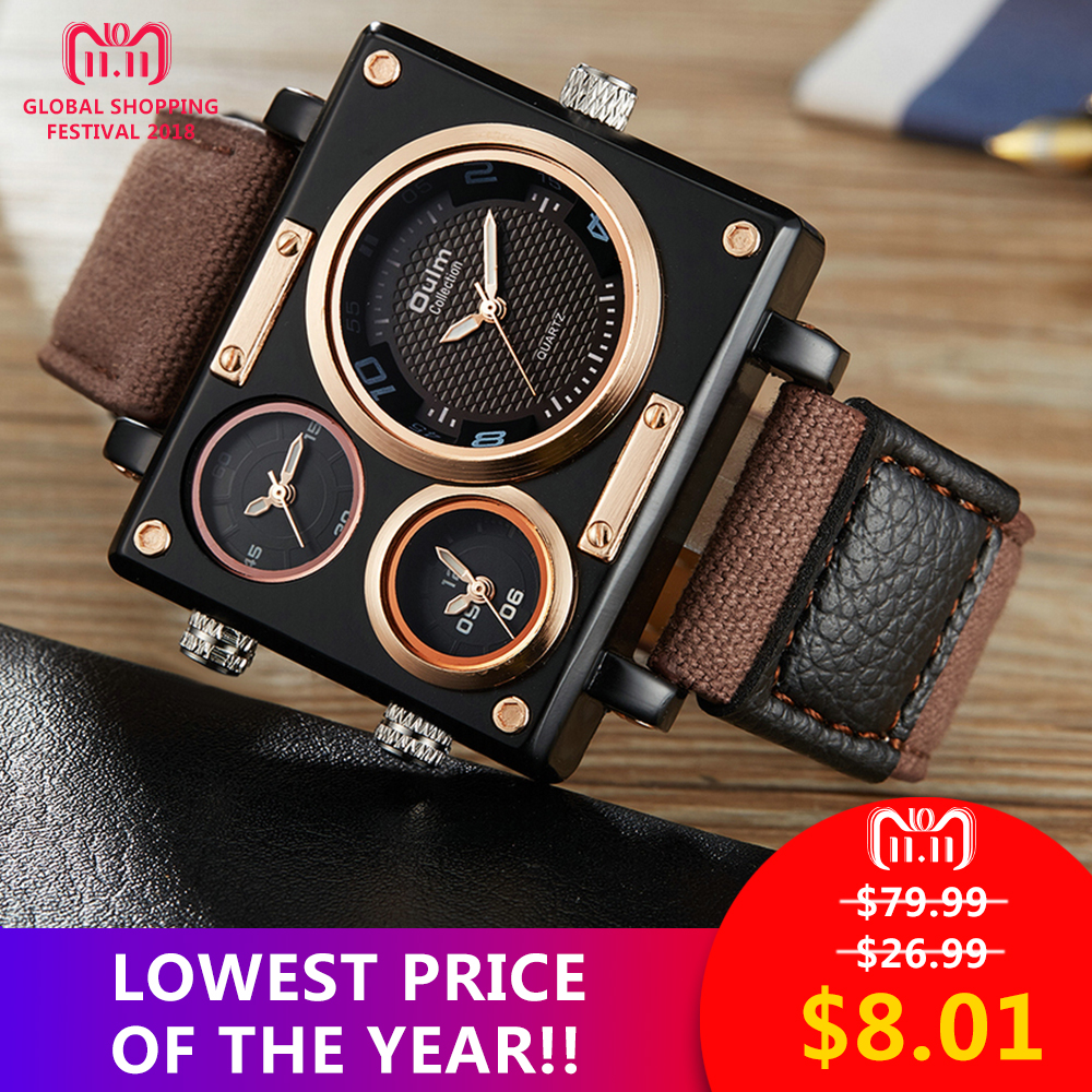 OULM mejor venta de Moda hombre reloj Militar Superior de la marca de lujo de venta al por menor Vip Envío Directo venta al por mayor reloj de la correa de la OTAN de los hombres reloj de pulsera