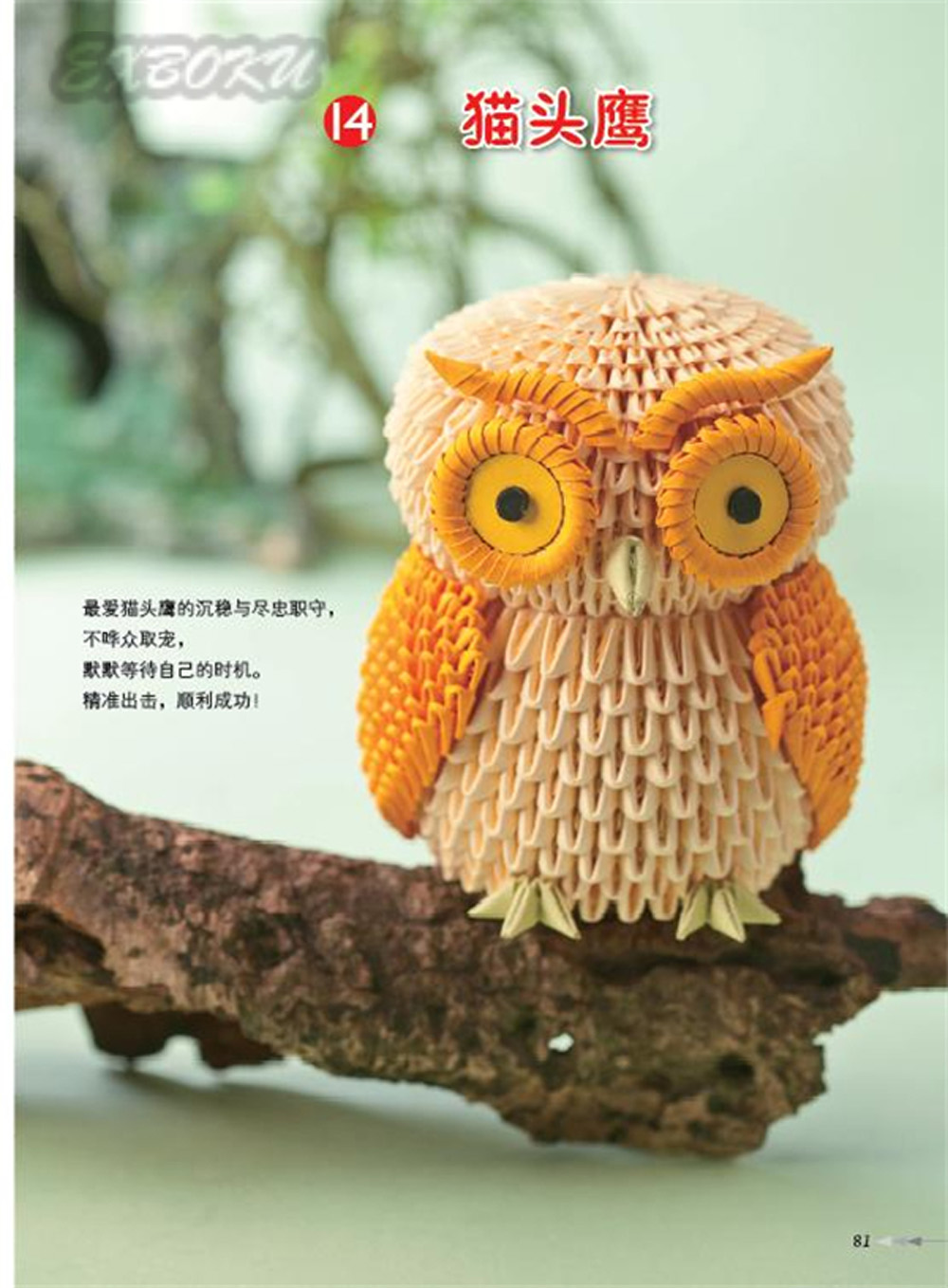 Chinese Japanese Origami 3D Paper Craft Book Swan Owl Vase Basket Bicycle In Books From