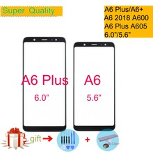 Touchscreen For Samsung Galaxy A6 2018 A600 A6+ Plus A605 A605F Touch Screen Front Glass Panel Outer Lens NO LCD