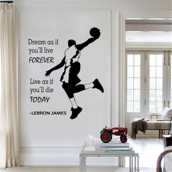 Online Shop Champion Lebron James Quots Saying Wall Vinyl Decal Home ...