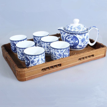 Mahogany wood tea tray tea tray Kung Fu tea wenge wood tea tray wings oblong fruit wholesale