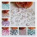 El Envío Gratuito! 850 unids/lote/color de La Mezcla 4 Tamaños de Acrílico Cristal de Diamante Wedding Party confetti Decoración