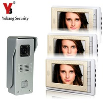 YobangSecurity Video Intercom Monitor 7″ Video Doorbell Phone Door Phone Home Security Color Wired for House Office Apartment