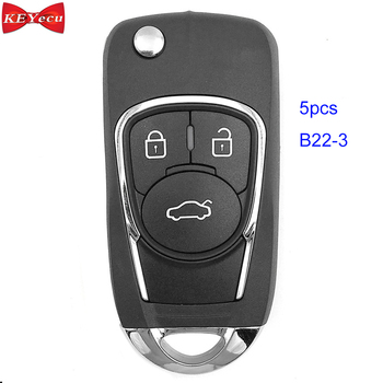 KEYECU 5pcs KEYDIY B22-3 Style Universal Remote Control Key B-Series for KD-X2 KD900,KD900+,URG200