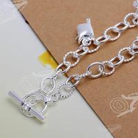 925 стерлингового серебра ювелирные изделия тонкой браслет моды очаровательный браслет высочайшего качества и розничной smth074