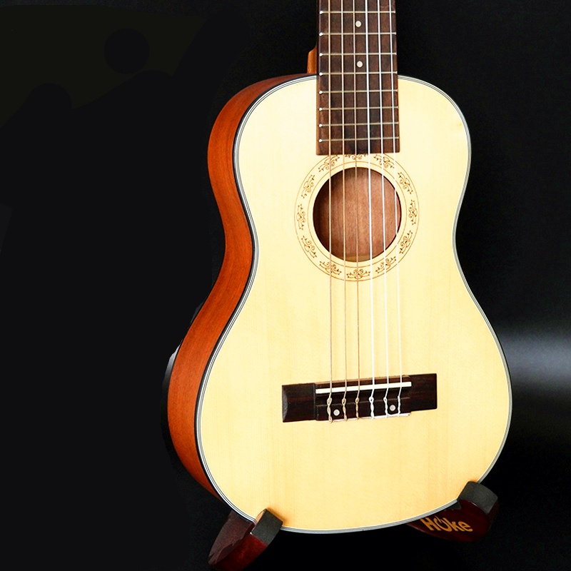 28 Pulgadas 6 Cuerdas de Ukelele de Mini Guitarra Ukelele Hawaiano Ingman abeto