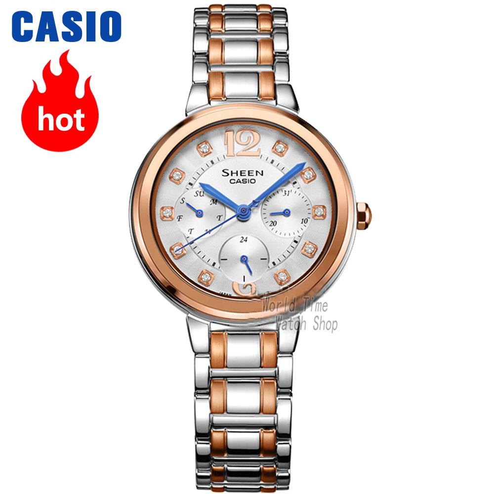 Casio watch waterproof quartz watch SHE-3048BSG-7A SHE-3048D-7A SHE-3048PGL-6A SHE-3048PGL-7A casio watch fashion trend ms quartz watch she 4048pgl 6a