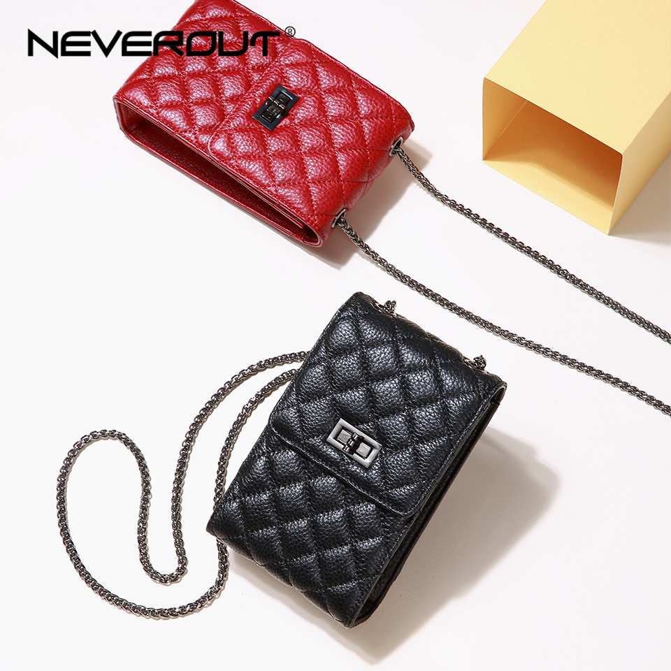 neverout-women-phone-mini-bag-classic-diamond-lattice-genuine-leather-messenger-bag-red-black-shoulder-sac-ladies-crossbody-bags