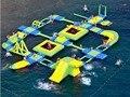 Productos inflables parque Acuático adelante combinaciones agua juguetes jugando verano juego de agua a gran escala