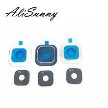 AliSunny 10pcs Back Camera Lens Frame + Glass Cover Holder for SamSung Note 5 N920 replacement