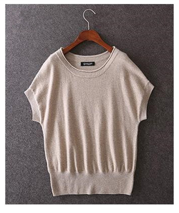 High Grade 100goat Cashmere O Neck Women Spring Summer Fashion