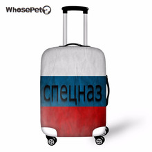 WHOSEPET Russia USA Flag Print Case Covers For Trolley Suitcase 18-28 Inch Dustproof Elastic Luggage Protective Suitcase Cover
