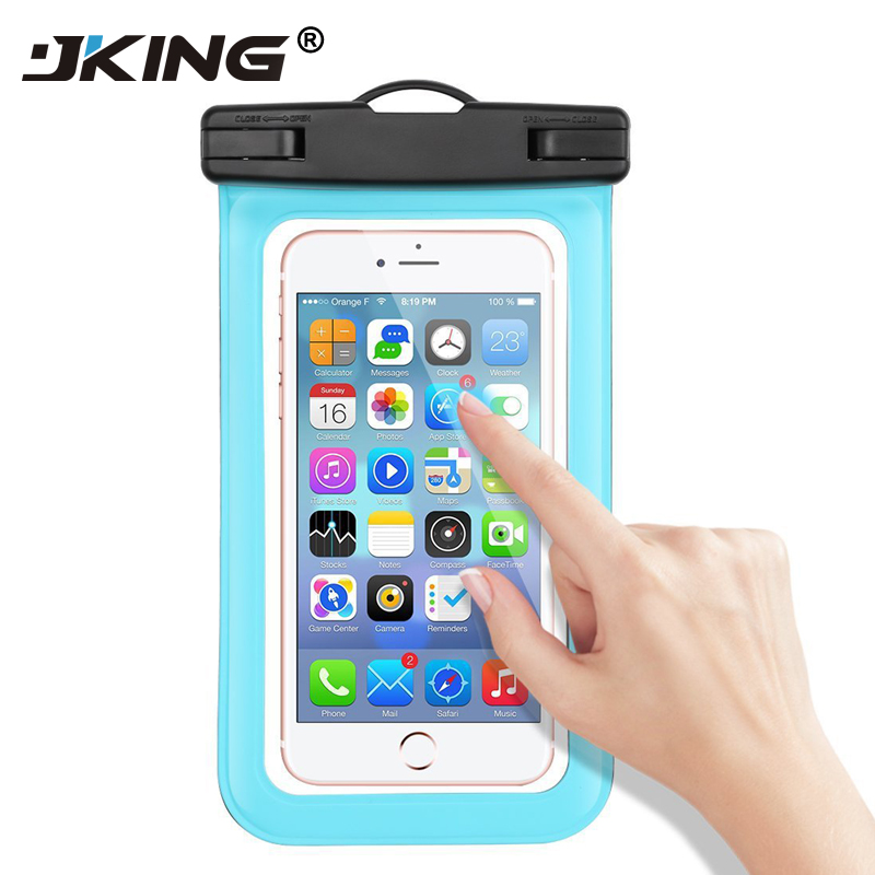 JKING Universal Waterproof Case For iPhone X 8 7 6 s Plus Cover Pouch Waterproof Bag Case For Phone Coque Waterproof Phone Case