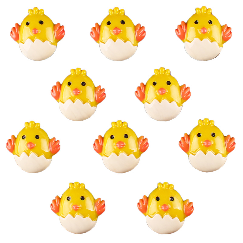 50pcs Easter Baby Chick Chicken Flat back Resin Scrapbooking Crafts Embellishment Flatback Charms Cabachons