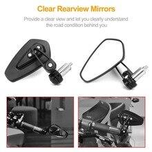 цена на CNC Aluminum Motorcycle Rearview Mirrors Blue Glass Rear View Side Mirror Universal for HONDA KAWASAKI YAMAHA KTM DUCATI