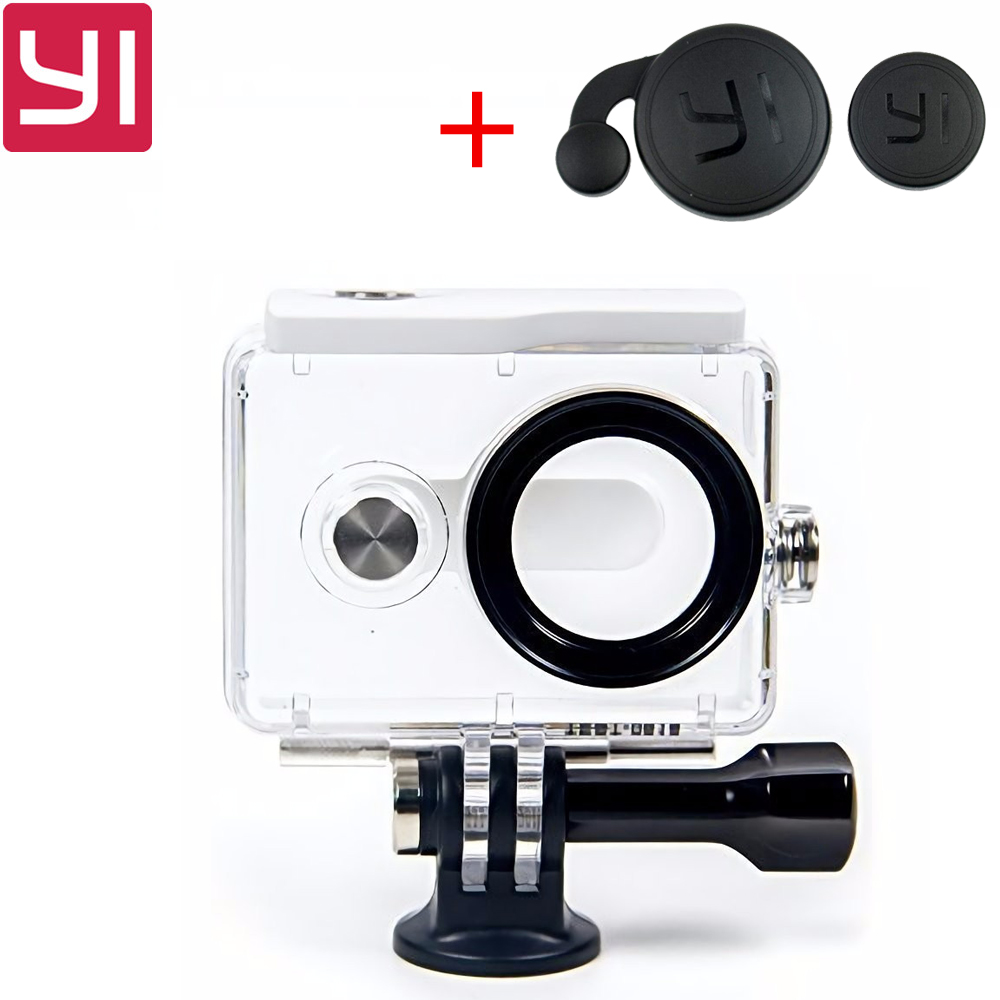 все цены на IN STOCK! NEW Original Waterproof Case for Xiaomi Yi Action Camera 40M Diving Sports Waterproof Box For Xiaoyi Camera онлайн