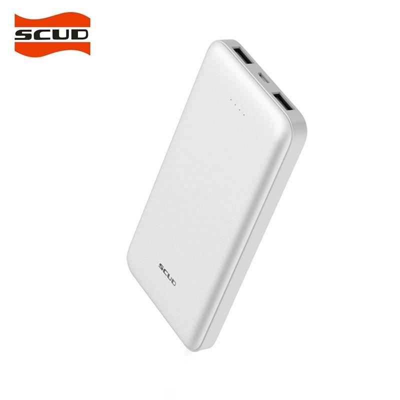 SCUD 10000 mAh Batterie Externe Chargeur Portable Powerbank 10000 Mince Poverbank Externe Batterie Pack Chargeur pour Xiao mi mi 9 je