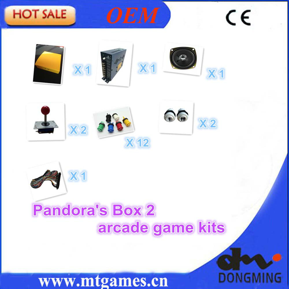 Jamma Arcade game kits including pandora's box 2, joystick,button ,speaker , power supply and harness for arcade machine DIY jamma arcade game kits with pandora box 4 645in1 game power supply arcade joystick arcade buttons speaker for arcade game