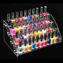 New Promotion Makeup Cosmetic 4 Tiers Clear Acrylic Organizer Mac Lipstick Jewelry Display Stand Holder Nail Polish Rack(China)