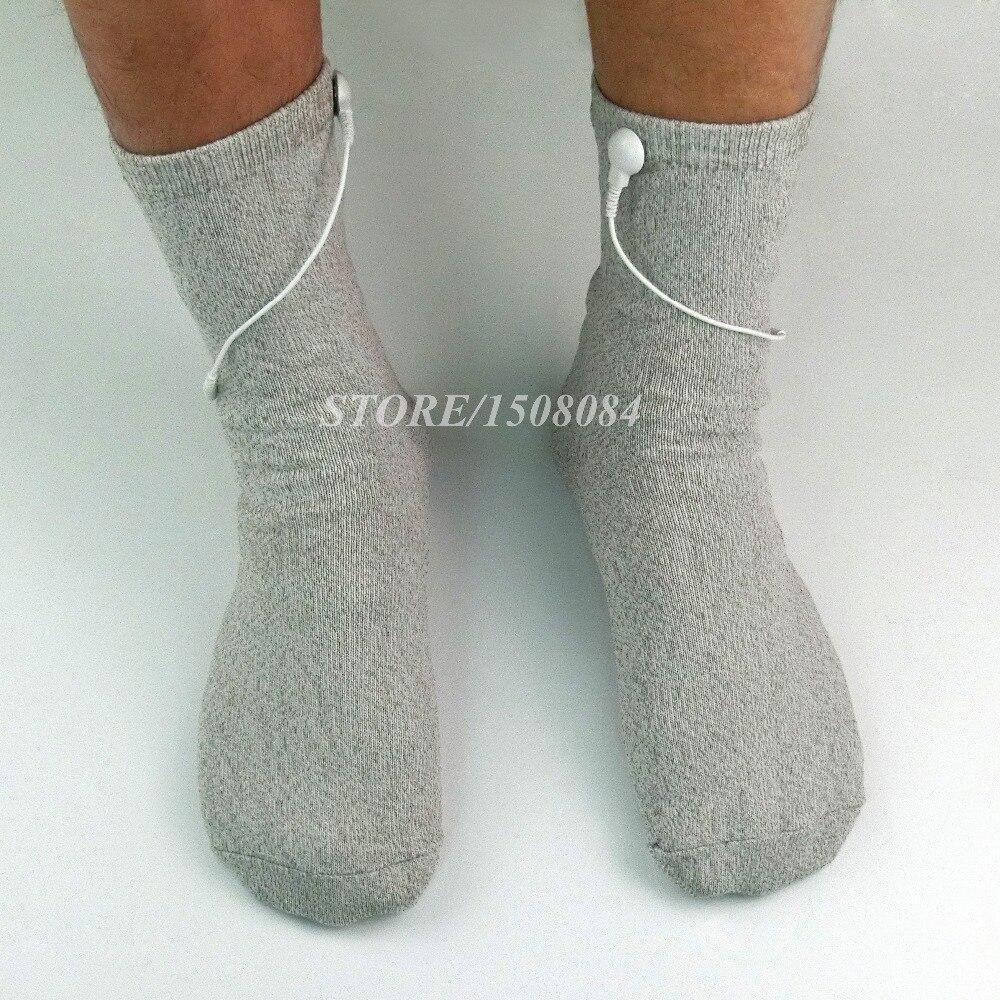 Konduktif perak serat TENS / EMS sarung tangan terapi elektroda + - Penjagaan kesihatan - Foto 4