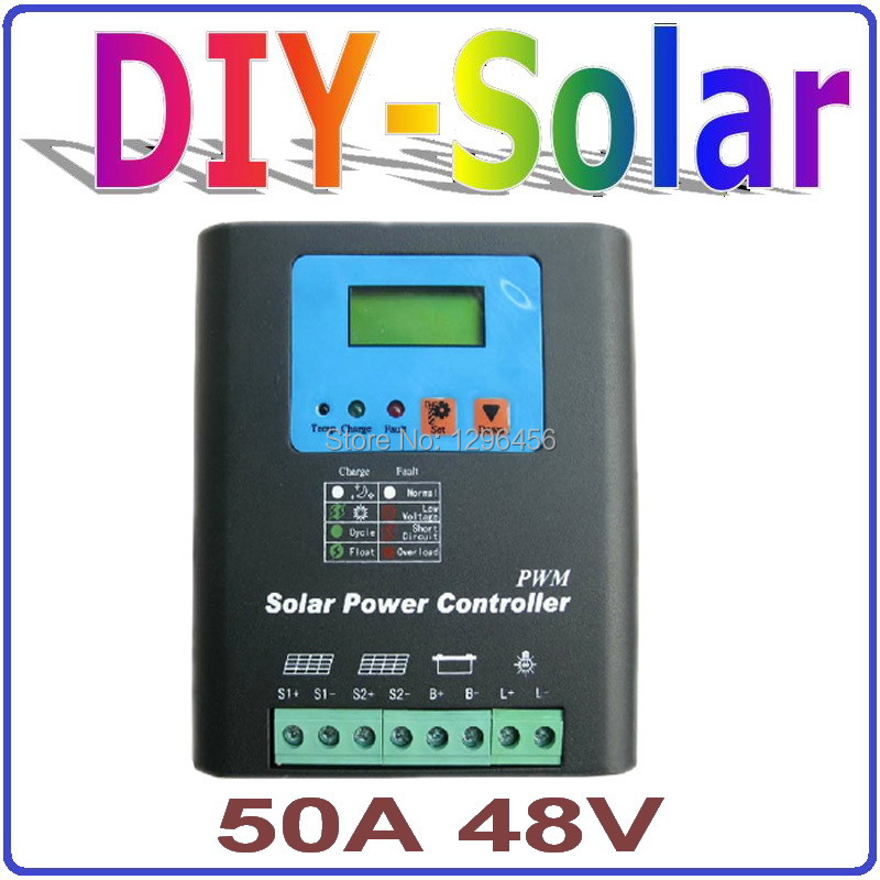 50A Solar stsyem controller 48V with LCD Display use solar s, Solar Panel Battery Charge Controller 50 amp 48V Solar