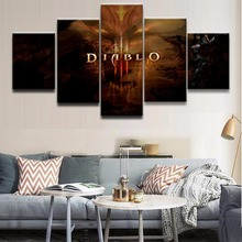 5 Pieces Demon Hunter Diablo III  Logo Poster Modern Home Decor Wall Canvas Picture Art HD Print Painting On Canvas Artworks блокнот printio demon hunter