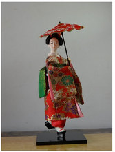 Resin Statuette Ethnic Japanese Geisha Kimono Doll Collection Home Decoration