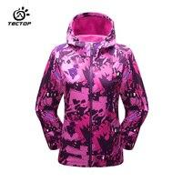 Tectop kamp yürüyüş ceketler kadın rüzgar geçirmez su geçirmez yağmur sıcak kış softshell giyim kamp açık ceket kadın