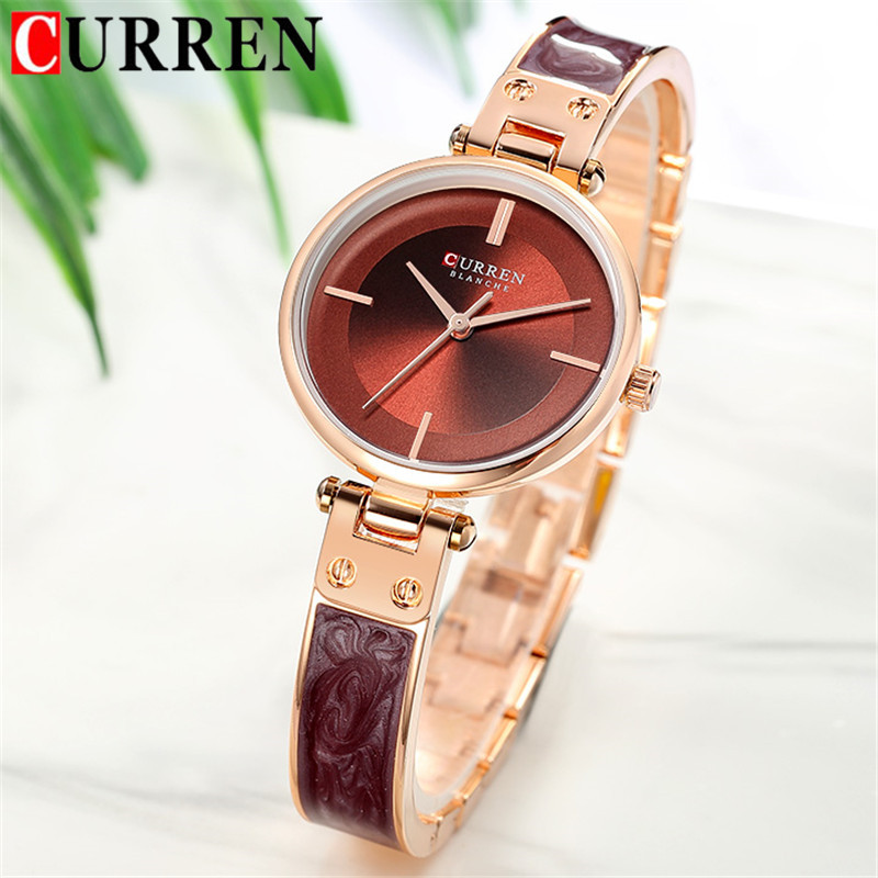 CURREN Fashion Women Watches Top Brand Luxury Ladies Girl Wrist Watch Stainless Steel Bracelet Classic Casual Female Clock 9058