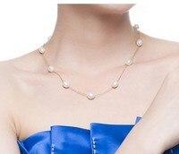 925 серебряные натуральным большой SF завернутый естественный пресноводный звезд, жемчужное ожерелье, 6 7 мм, серебро 925 ключицы