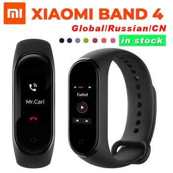 Versión Global opcional Original Xiaomi mi Band 4 pulsera inteligente Frecuencia Cardíaca Fitness 135mAh pantalla de Color Bluetooth impermeable