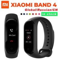 Wersja globalna opcjonalne oryginalne Xiao mi mi Band 4 inteligentna bransoletka tętno Fitness 135mAh kolorowy ekran Bluetooth5.0 wodoodporna 1
