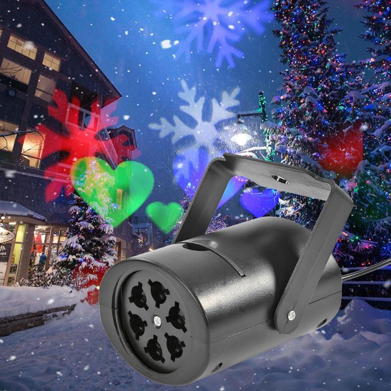 Christmas Pattern LED Laser Projector Outdoor Garden Lawn Stage Effect Light Colorful Rotating Lamp Waterproof Decorative Lamp