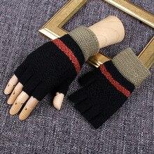 REALBY Перчатки, варежки без пальцев мужские зимние 5 цветов наручные Luvas руки теплые перчатки Guantes перчатки sin dedos B6228