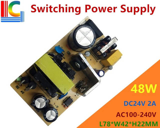 48W AC to DC 24V Lighting Transformer Output 2A Switching Power Supply For LED strip LED module LED point light source etc