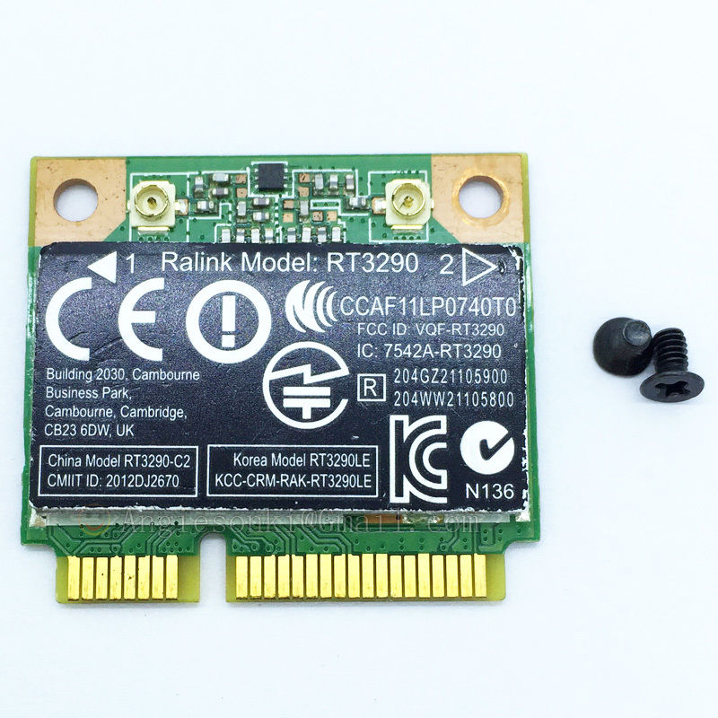 RT3290 802.11N 2.4GHz WIFI + Bluetooth PCI-E Half Wlan Card SPS 689215-001 690020-001 For HP Split 13/envy M7/ Envy 4 Ralink
