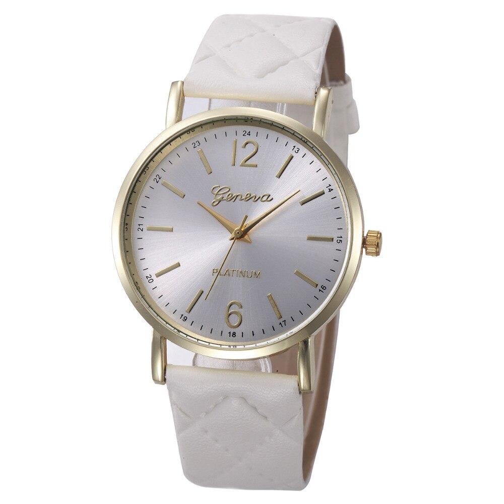 Superior Fashion Women Casual Geneva Roman Leather Band Analog Quartz Wrist Watch relogio feminino Gift Sep 19