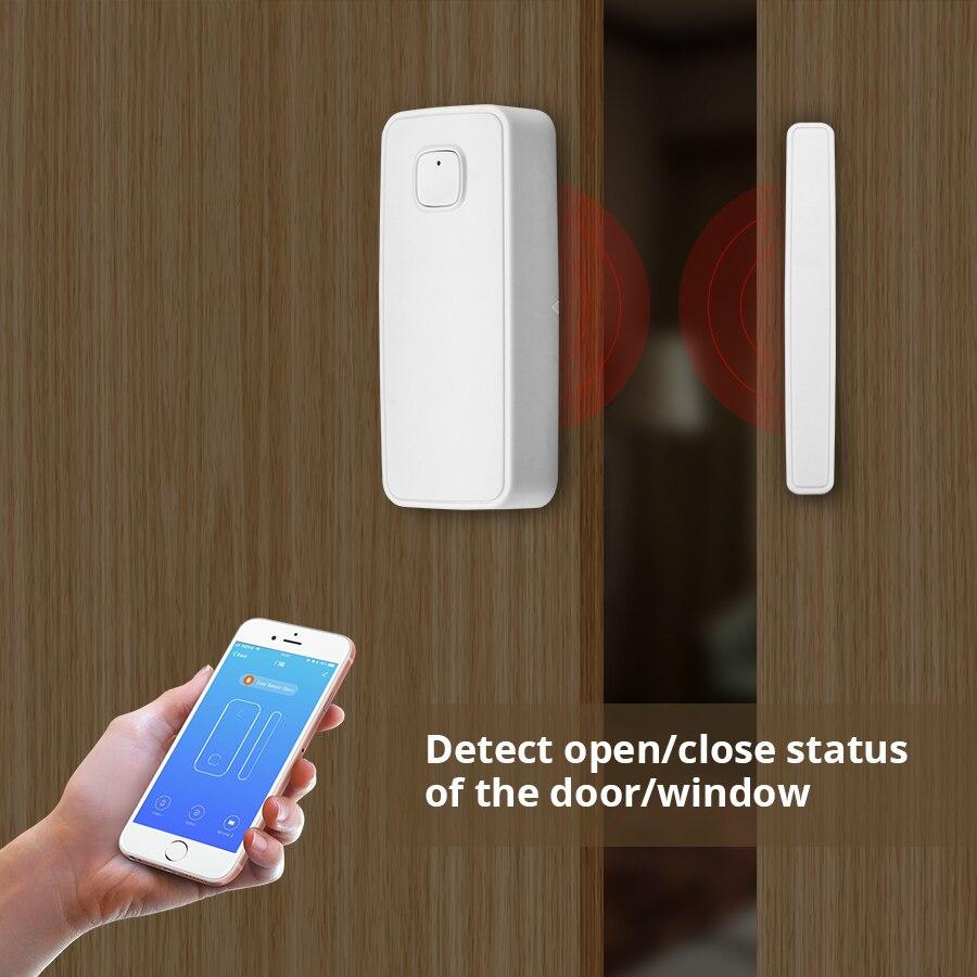 WIFI Door Sensor APP Control Door Security Alarm Magnetic Switch Wireless Window Door Opening Sensor Compatible with Alexa in Sensor Detector from Security Protection