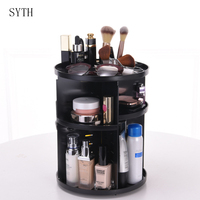 SYTH DIY Colorful Cosmetic Large Capacity 360 Degree Rotating Makeup Organizer Adjustable Multi Function Cosmetics Storage Box